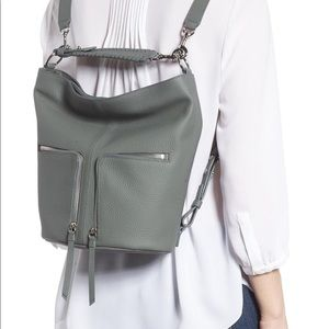 All Saints Fetch Convertible Backpack Leather